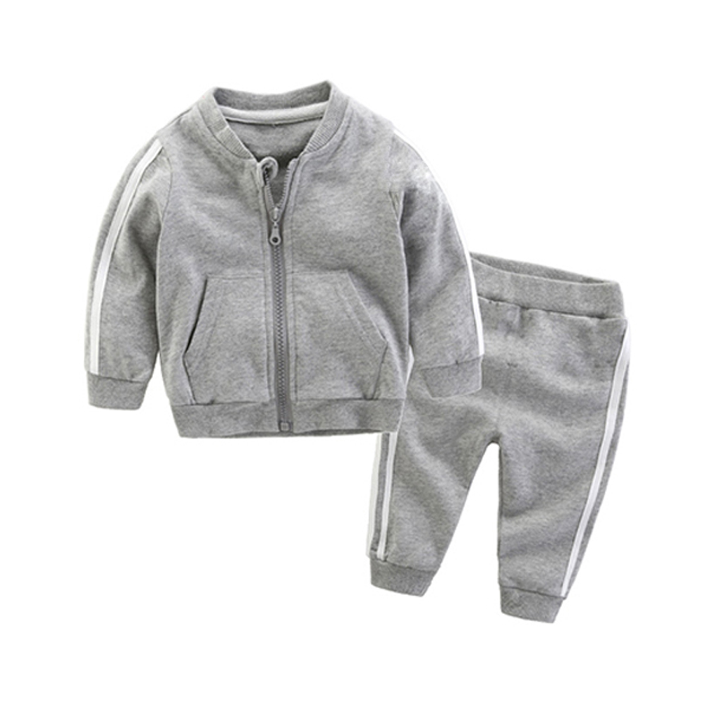 Tem Doger Baby Boys Girls Clothes Sets Newborn Boy Long-sleeved Clothing Zipper Coats+pants 2pcs Sport Suit Infants Casual Set