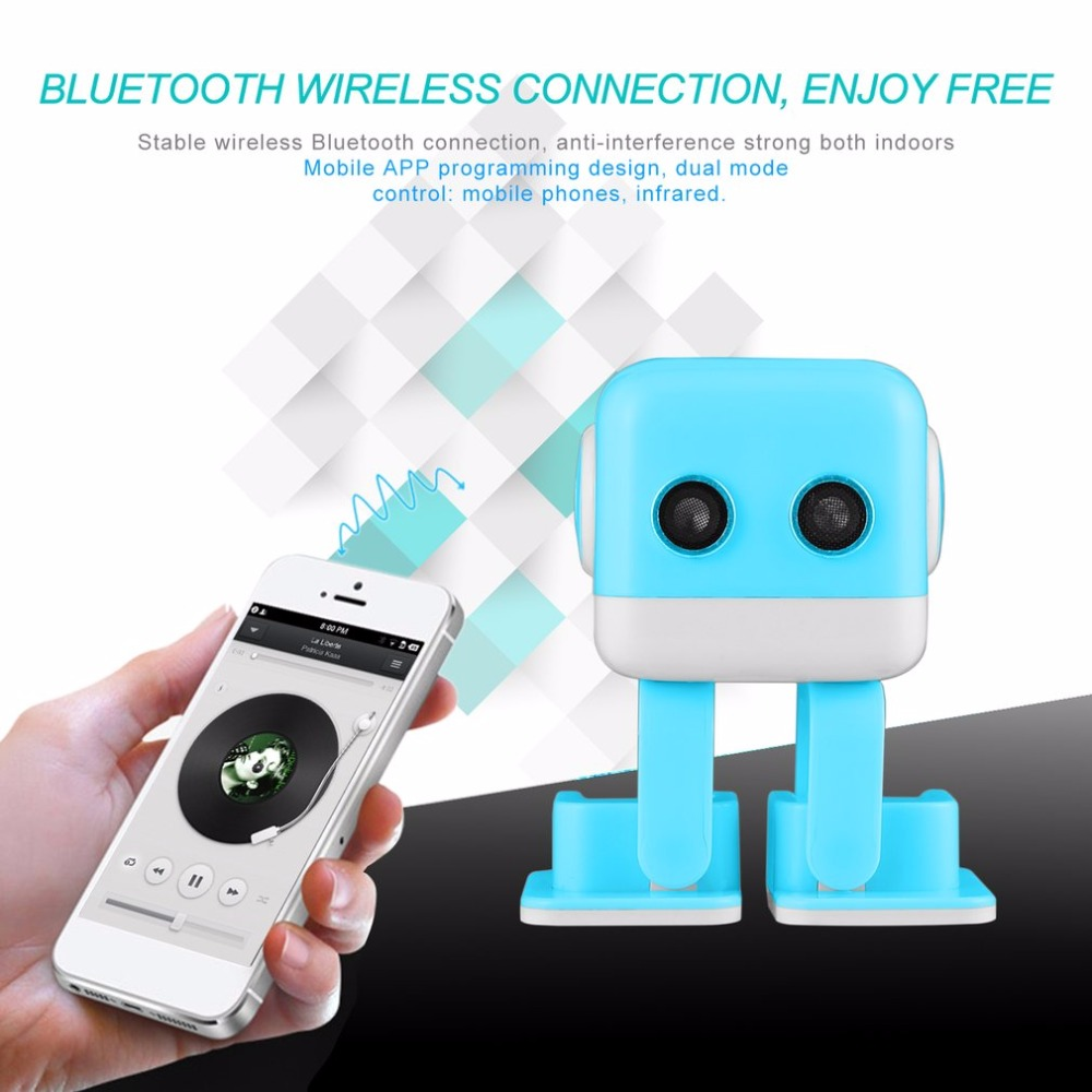 Onleny Mini Portable Wireless Smart Robot Stereo Speaker Handsfree Music LED Matrix Display for Children Kids Education wireless bluetooth speaker led audio portable mini subwoofer