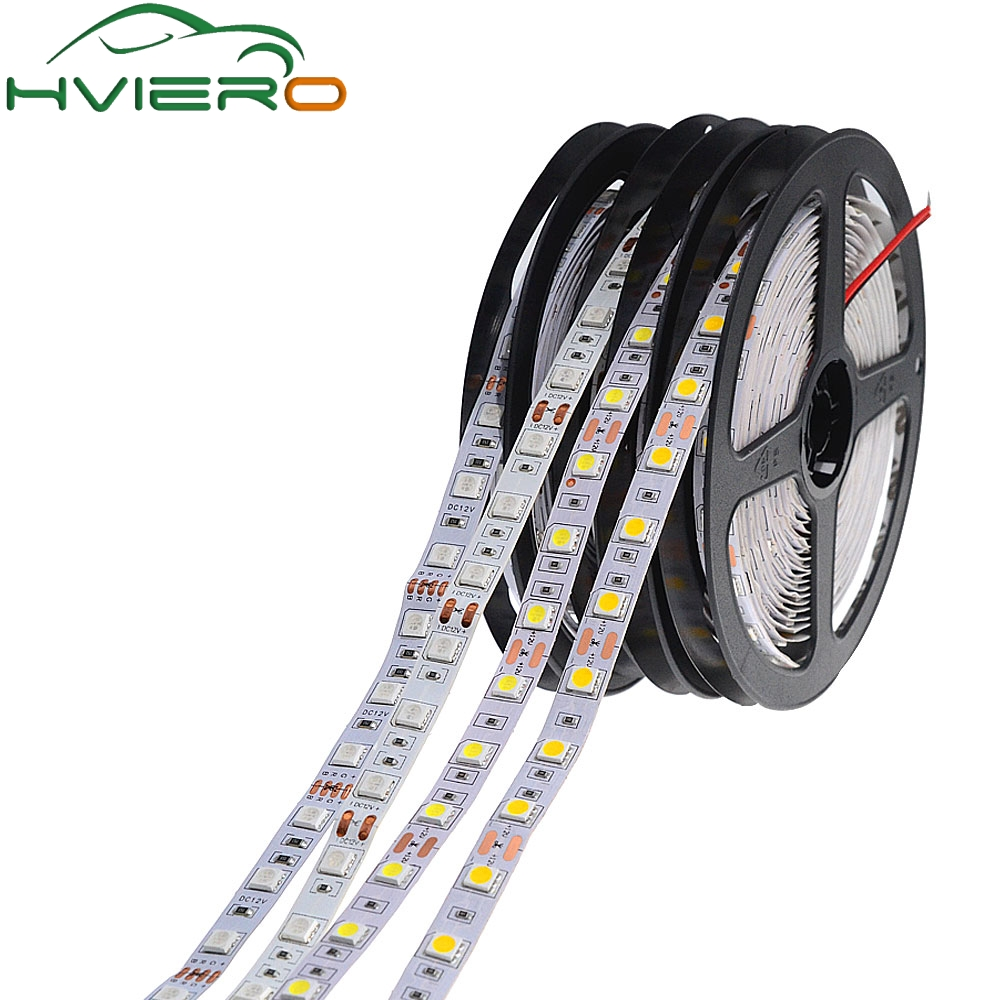 5m 300 LEDs 5050 SMD DC 12V IP20 Non Waterproof Flexible LED Light 60leds/m White RGB Party Light flexible light 5050 Led Strip 72w 3600lm 6500k 300 5050 smd led white light lamp strip w rf dimmer black white yellow 5m