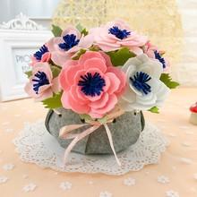 5 стилей букеты-муляжи фетр diy пакет бесплатно вырезать искусственный цветок ручной работы для свадьбы/гостиной украшения
