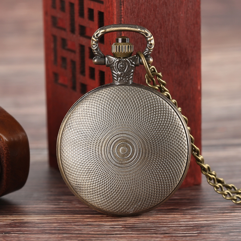 Fallout 76 Vault 111 FALLOUT 4 Theme Quartz Pocket Watch Pendant Retro Bronze Chain Necklace Unique Souvenir Gifts for Game Fans (2)