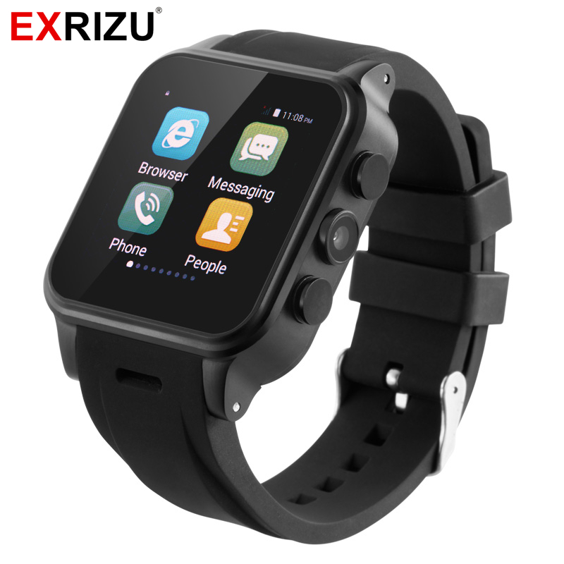 EXRIZU PW308 Android Smart Watch 3M 720P Camera 512M+4GB Memory MTK6572 2G+3G Network Bluetooth Smartwatch for iPhone Android