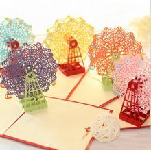 Art Lalic 3D Stereoscopic Ferris Wheel Greeting Pop Up
