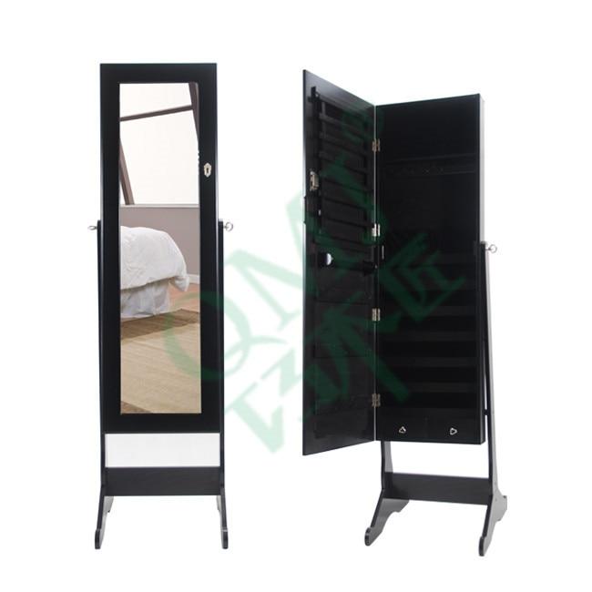 New Luxury Large Wooden Black Ikea Jewelry Cabinet Mirror