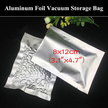 "100pcs 8x12cm (3.1""x4.7"") 200micron Small Aluminum Foil Open Top Bag Heat Sealing Bag Food Moisture-proof Vacuum Foil Bag"
