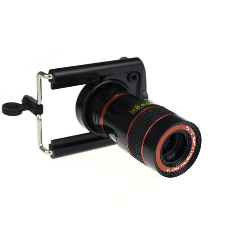 Universal 8X Zoom Telephoto Lenses Optical Telescope Camera Kit Wide Angle Lens With Clips For iPhone 4 5 5S SE 6 6S 7 Plus 8 X
