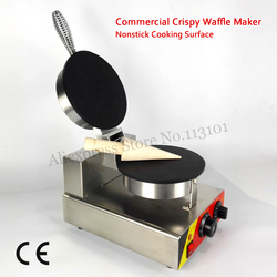 Nonstick Roll Pancake Machine Commercial Crispy Waffle Maker 1000W 220V 110V with Temperature Controller and Timer