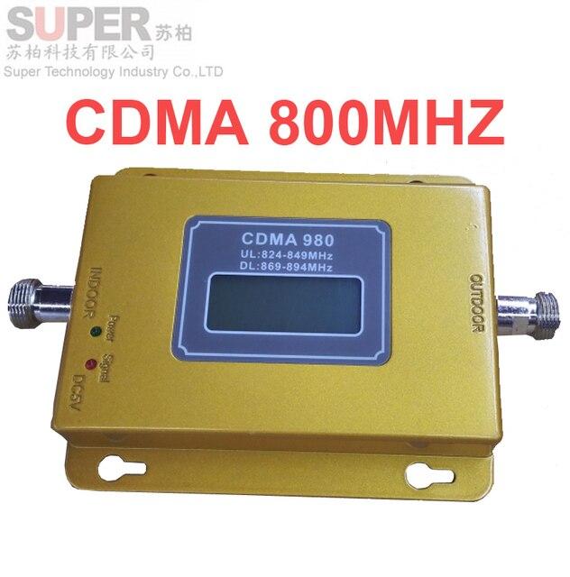 ЖК-дисплей функция 980 CDMA 800 мГц с высоким коэффициентом усиления CDMA 850 МГц мобильный телефон усилитель сигнала, GSM репитер сигнала cdma усилитель