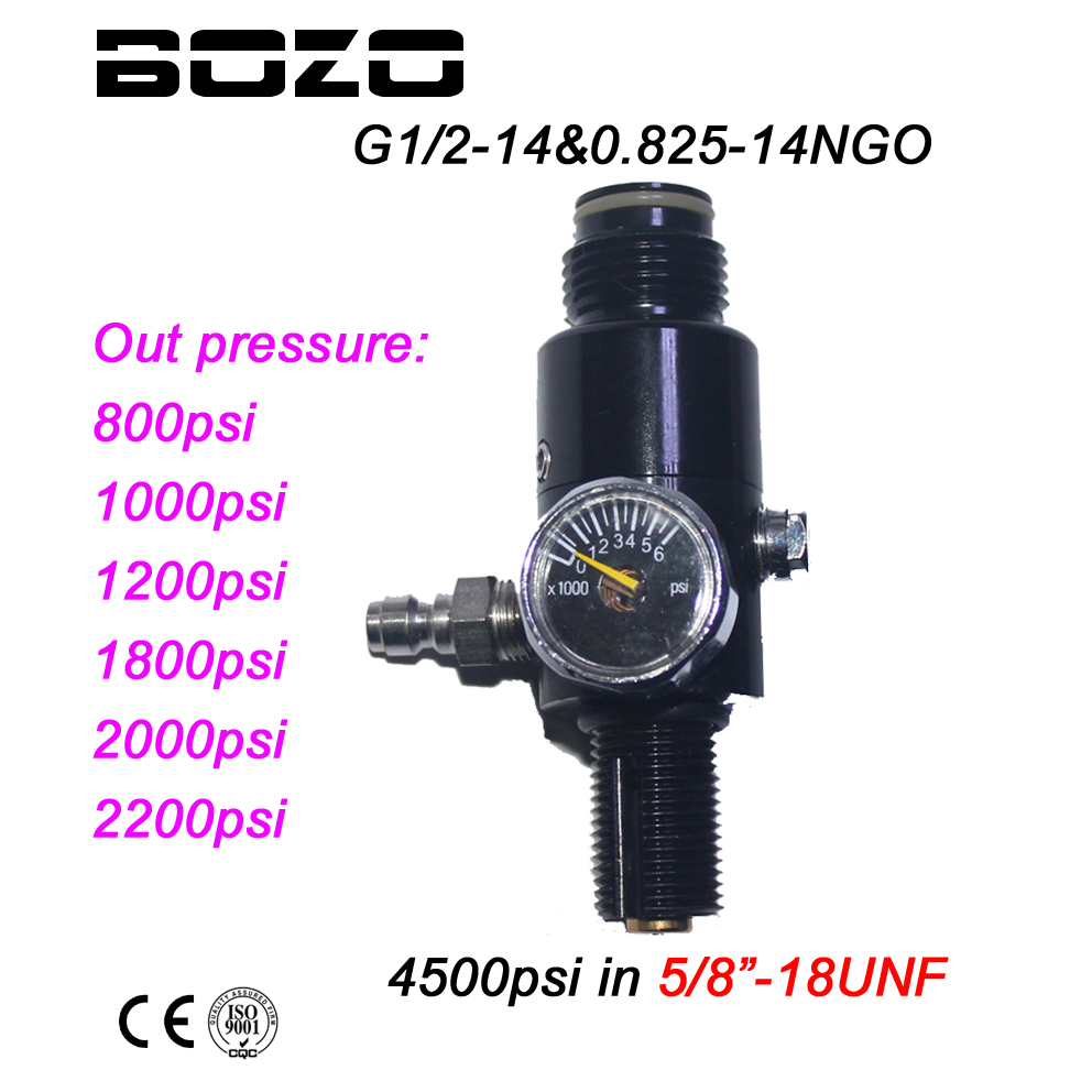 New Paintball PCP HPA 4500psi Compressed Air Tank Regulator Output Pressure 800/1000/120 ...