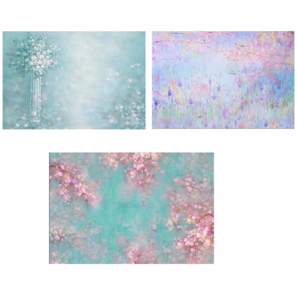 3 pièces Horizontal peint à l'huile style polaire S-101, S-1207, CM-2229 arrière-plans de photographie pour studio photo arrière-plans de portrait