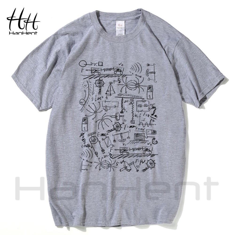 HanHent Physics T-shirts Men Creative Casual Tshirt Short Sleeve Tee shirt Math Cotton Tops The Big Bang Theory Geek T shirts 6