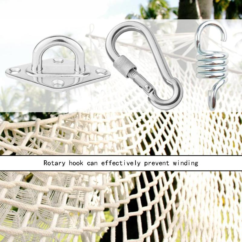 1Set 300kg Hammock Chair Ultimate Hanging Accessories Kit Swing Lazy Chair Hammock Spring Swivel Hook And Ceiling Hammock Mount