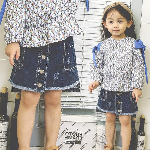 62a131b21 RUBU Baby girl Fashion Skirts Summer Cowboy Princess Tutu Skirt Children  Short Skirt Kids School Home Casual Clothing 1-5Y