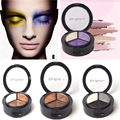 3 Cores Smoky Cosméticos Set Pro Matte Eyeshadow Makeup Palette Sombra Eye Glitter fórmula nutritiva beleza ferramenta