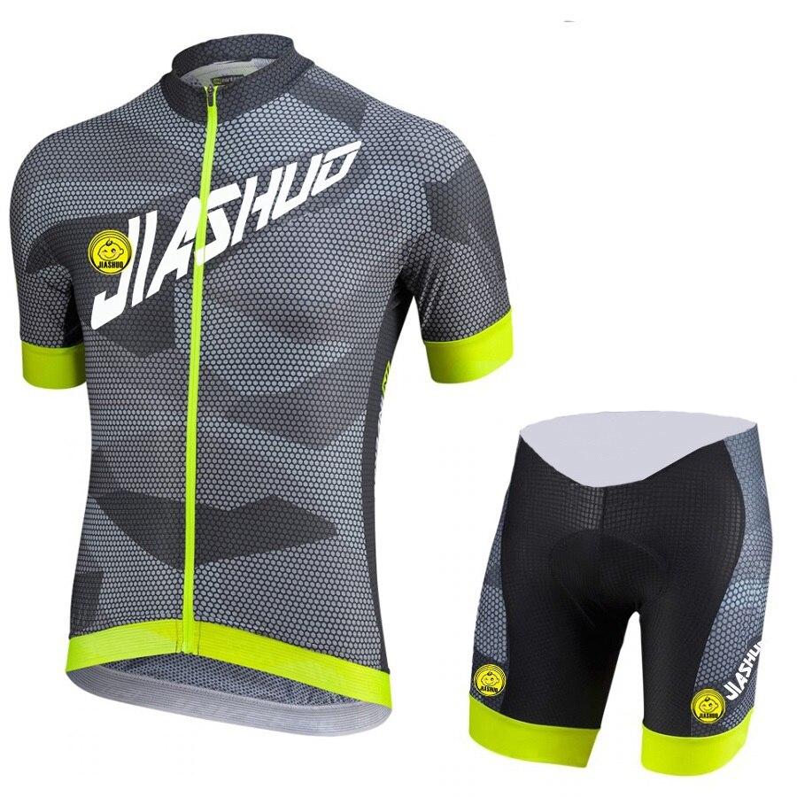 새로운 2017 회색 통기성 로파 드 사이클링 저지 Maillot ciclismo 남성 짧은 소매 Ciclismo 프로 팀 우승 자전거 의류