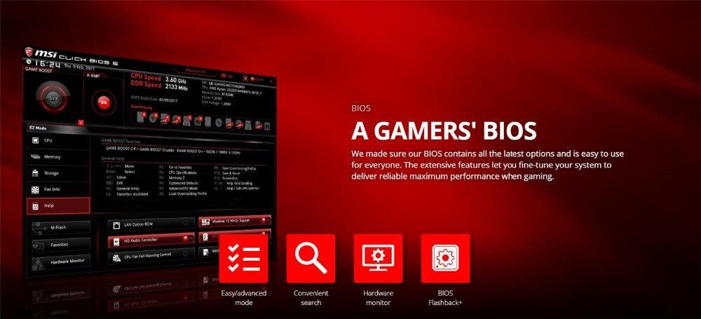 MSI B450 Gaming Plus Motherboard AMD Ryzen Socket AM4 ATX ssd m 2 sata Rams  ddr4 memory graphic card HDMI DVI-D port mianboard