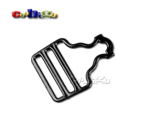 50pcs Pack 52.5*39.5mm Plastic Black Adjustable Suspender
