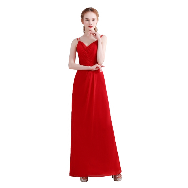 Beauty-Emily Red Chiffon Red A-Line   Bridesmaid     Dresses   2019 Backless Off the Shoulder Homecoming Party Prom   Dresses