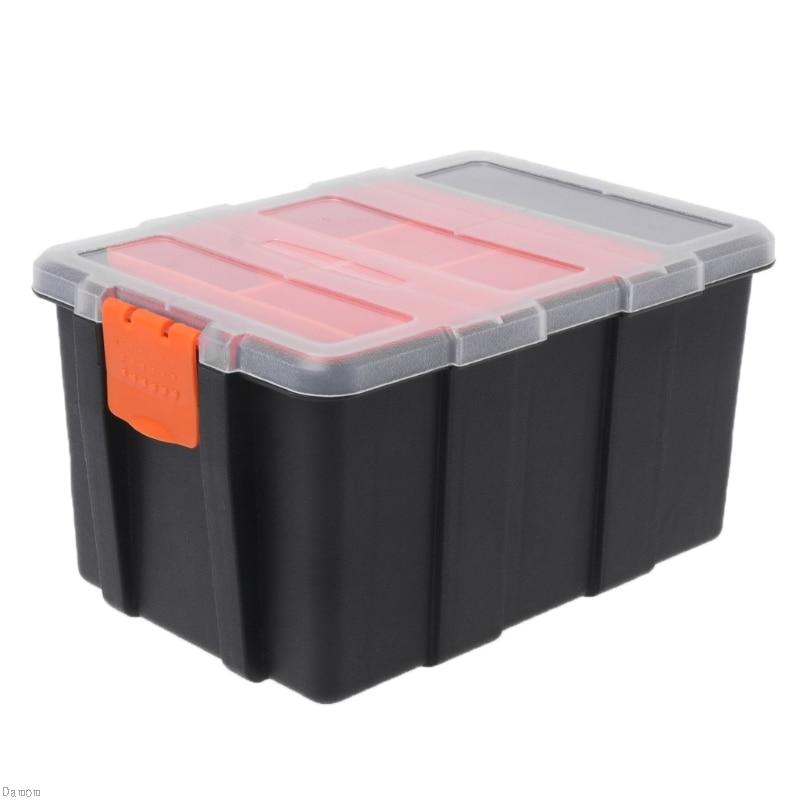 Hardware Box Transparent Multifunctional Storage Tools Case Plastic Organizer Damom