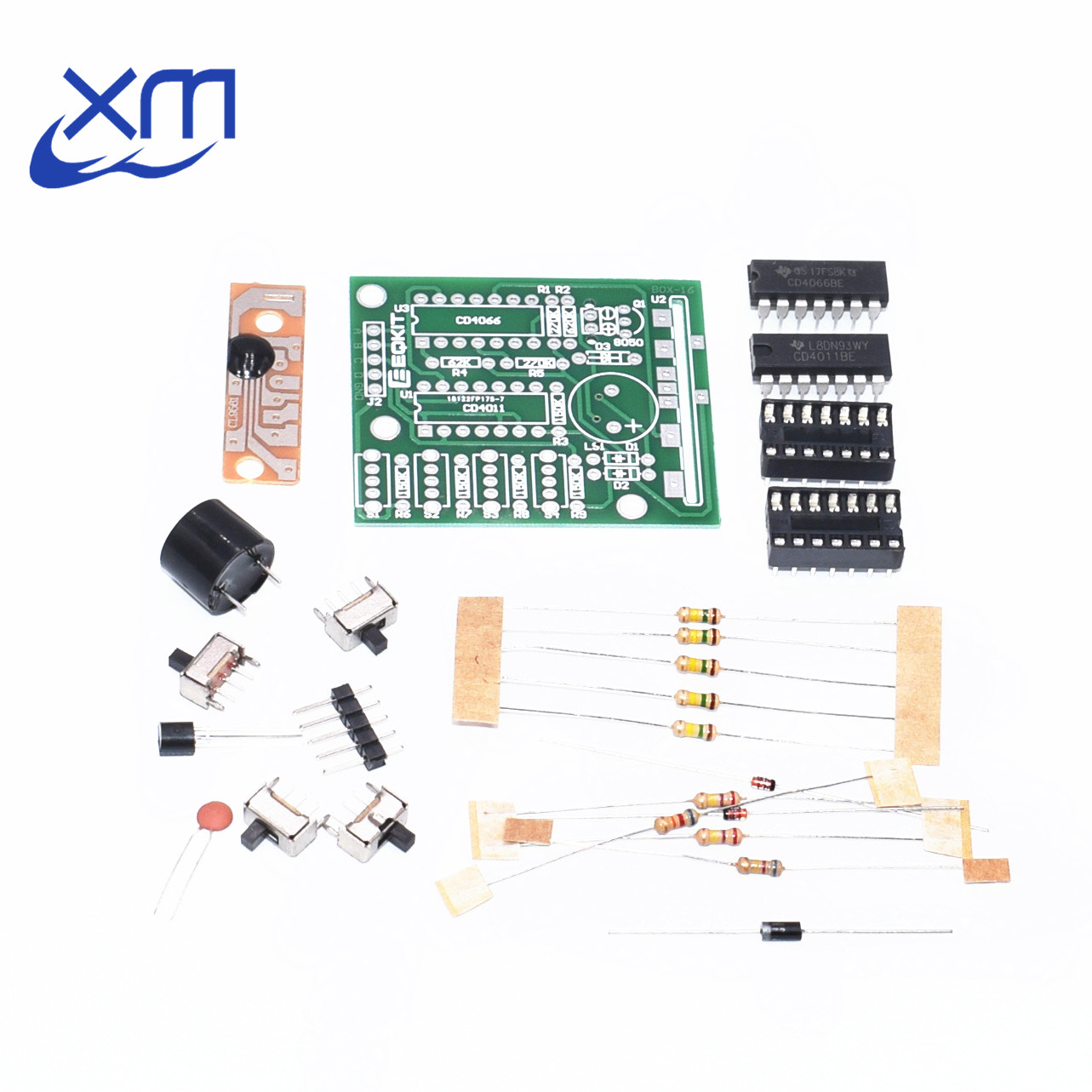 16 Music Box Sound Box Electronic Production DIY Parts Components Accessory Kits green/blue