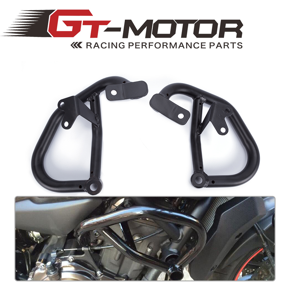 GT Motor- Motorcycle Accessories For YAMAHA MT-07 FZ-07 2014-2016 Engine Protetive Guard Crash Bar Protector engine bumper guard crash bars protector steel for yamaha mt09 mt 09 fz07 fz 09 2014 2016 2014 2015 2016 motorcycle