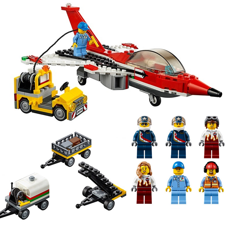 Lepin 02007 City Series Airport Air Show 60103 Female Stunt Building Block 723pcs Bricks Toys Children Toys Model Gifts a toy a dream lepin 02043 718pcs building blocks bricks new genuine city series airport terminal toys for children gifts
