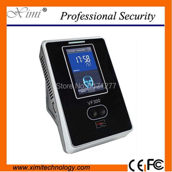 ZK Linux system 200 face usser VF300 face recognition employee attendance face card time attendance biometric time clock
