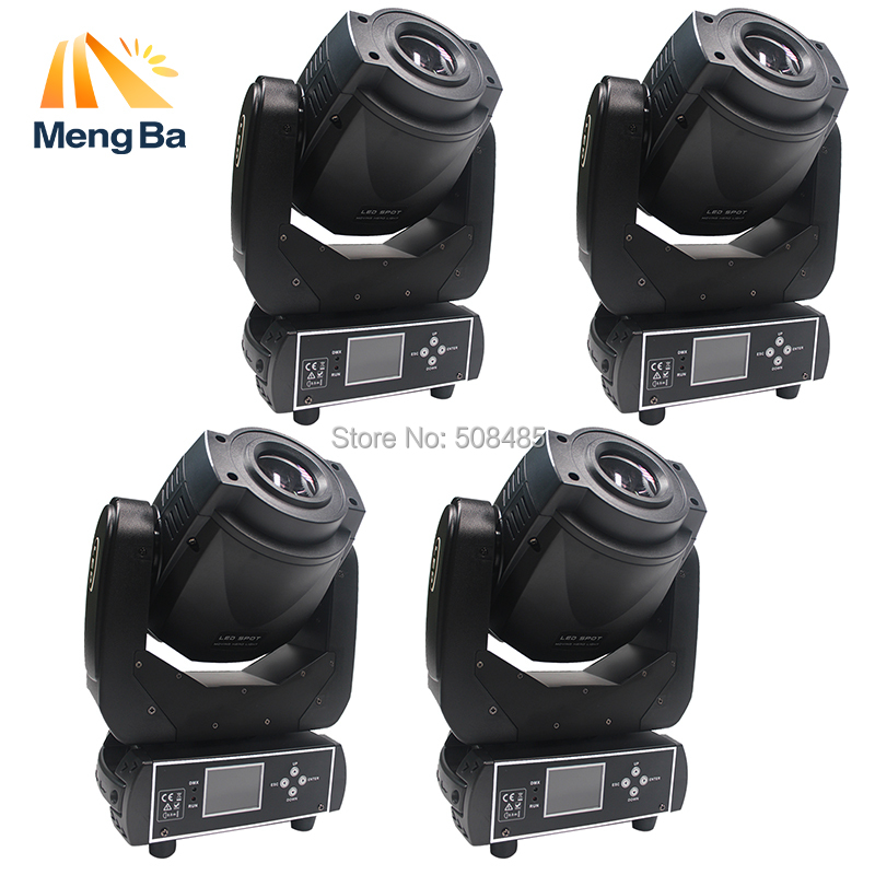 4pcs High Power 90W Gobo LED Moving Head Light 3 Face Prism DMX Controller LCD Display DJ spot light for Stage Disco club Party
