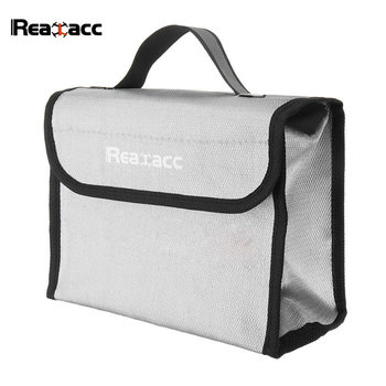 215*155*115mm Realacc Fire Retardant Rechargeable LiPo Battery Pack Portable Safety Bag Soft Carring Handbag Suitcase Grey