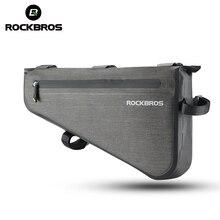ROCKBROS Rainproof Bike Bag Large Capacity MTB Road Frame Bag Triangle Pouch Waterproof Caulking Bicycle Bag Pannier Accessories