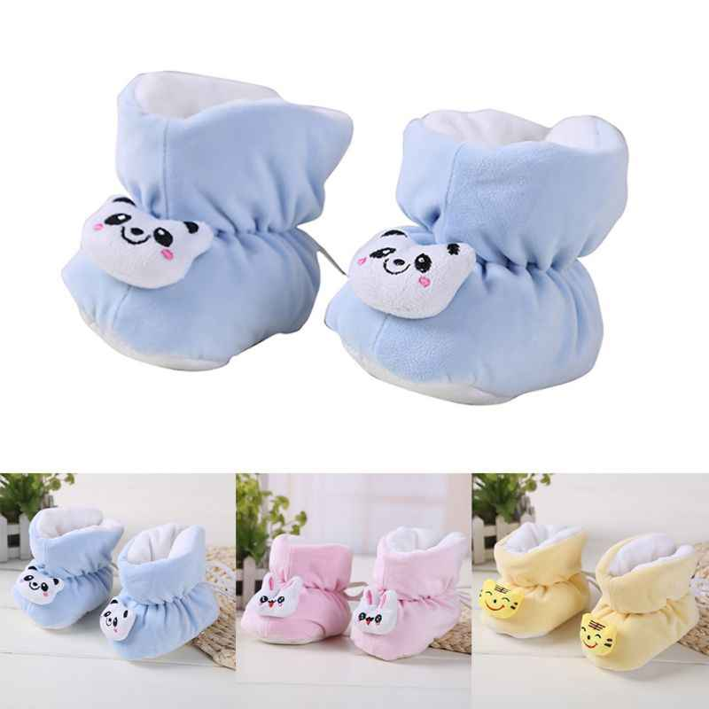 Winter Newborn Baby Shoes Infants Thick Warm Velvet Soft Bottom Non-Slip Shoes Newborn Baby Toddler shoes Anti-Fall Shoes 0-6M