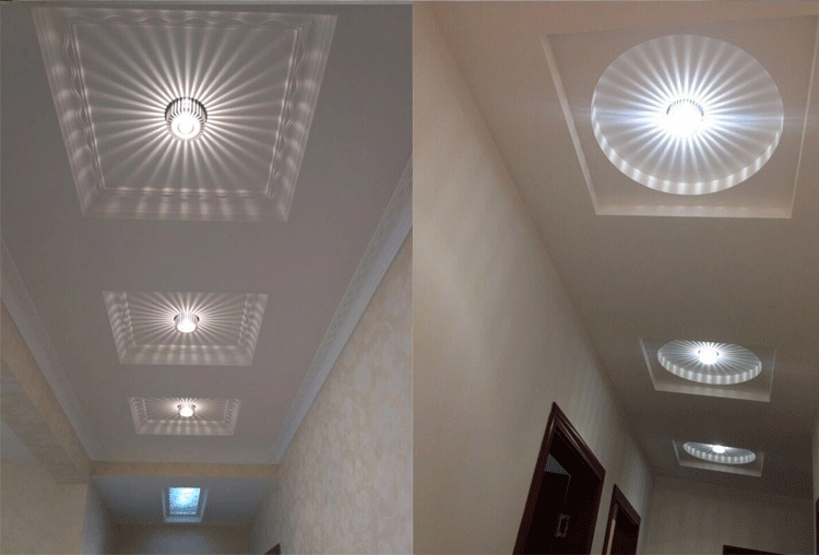 Ceiling Lamp | Living Room Ceiling Lights | 3W LED Aluminum Ceiling Light Fixture Spot Light Shade Lamp Lighting for ceiling wall corridor luminaire