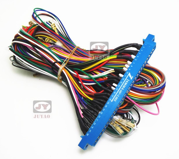Quality pin jamma harness for arcade game board