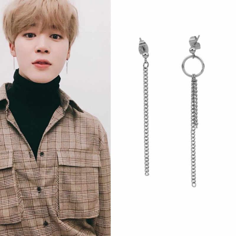 マルチスタイル韓国人気ヒップホップ kpop スタッドピアスファッション葉ステンレス鋼ペンダントイヤリングジュエリー男性と女性