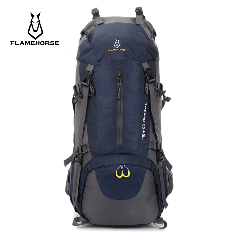 New 60L Outdoor Climbing Backpack Rain Cover Bag Large capacity Waterproof Mountaineering Camping Backpack Sport Hiking