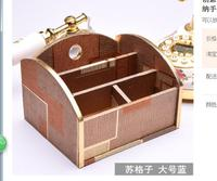 Creative paper towel box European high end desktop sundries sorting box cosmetic storage remote control box