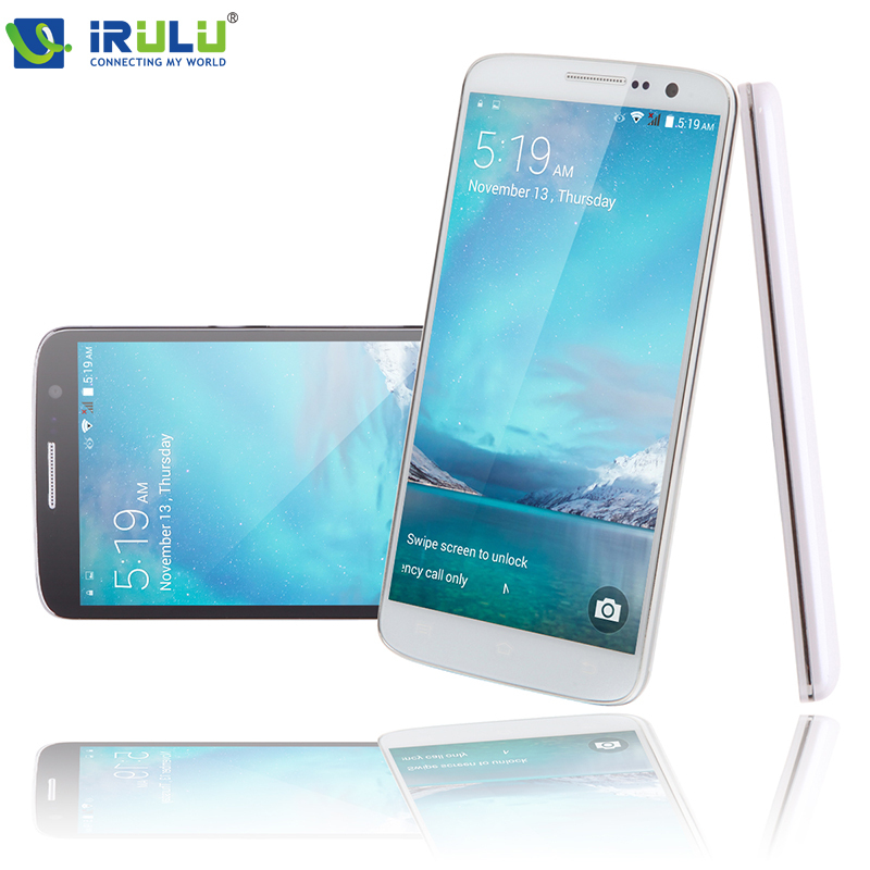 iRULU Brand U2 5.0 Quad Core Android 4.4 Smartphone MTK6582 8GB Dual SIM QHD LCD Dual CAM 13MP Heart Rate Light Sensor Add Case