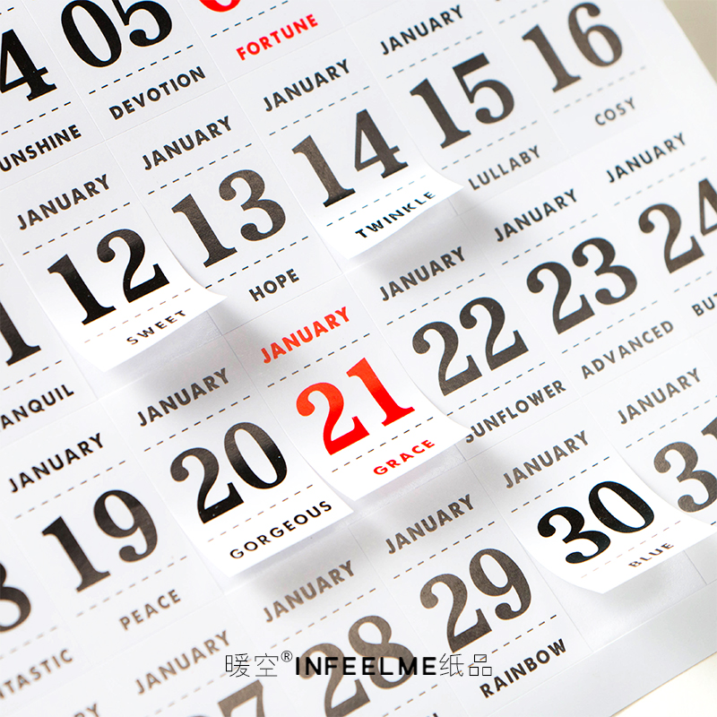 12 Sheets Calendar Dates Sticker Self Adhesive Memo Reminder Stickers Labels for Bullet Journal/Notebook/Planners /Scrapbook 2018 new arrival 10mm 12 pcs circles round code stickers self adhesive sticky labels black