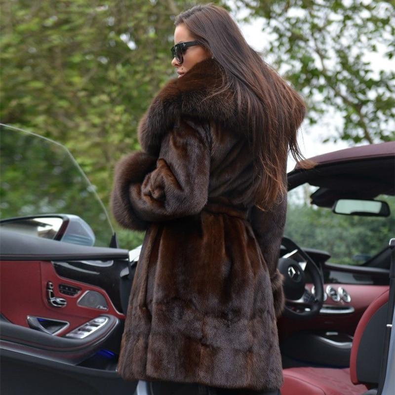 Wholeskin Plus Manteau Col Chaud Réel Manteaux Taille Avec 226 De Nature Fourrure mkw Plafonné Mkw Vison Mkw Hiver Épaisse 226 Renard Et 220 La Vestes Tops nqXwr87tXx