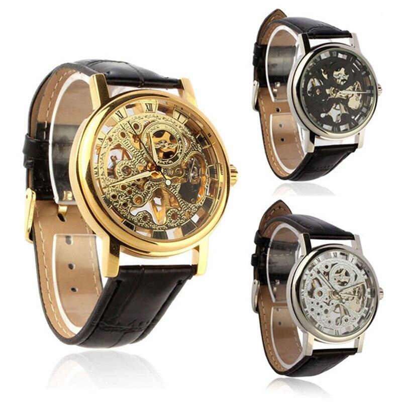 Quartz font b Watch b font For Fashion Luxury font b Mens b font Mechanical Skeleton