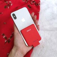 Портативный Зарядное устройство мини Мощность банк Мощность Core 2800 mAh ультра тонкий Беспроводной внешнего резервного Батарея чехол для iPhone 5 5S SE 6 6 S 7 8