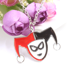 Горячие продаж бэтмен ожерелье харли квинн клоун гнездо подвеска посеребренная ожерелье мода подарок фильм ювелирных изделий