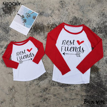 Family matching clothes 2019 Best Friends t shirt Baby Romper Dad and Son Mom E058