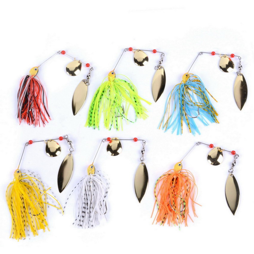 6pcs/set 13g 14g 15g Spinner Bait Bait Fishing Lure Spoon Fresh Water Shallow Water Bass Minnow Spinnerbait Lures Iscas Crank fishing lure blank unpainted minnow crankbait hard bait fresh water shallow water bass walleye crappie fishing tackle upm597p10