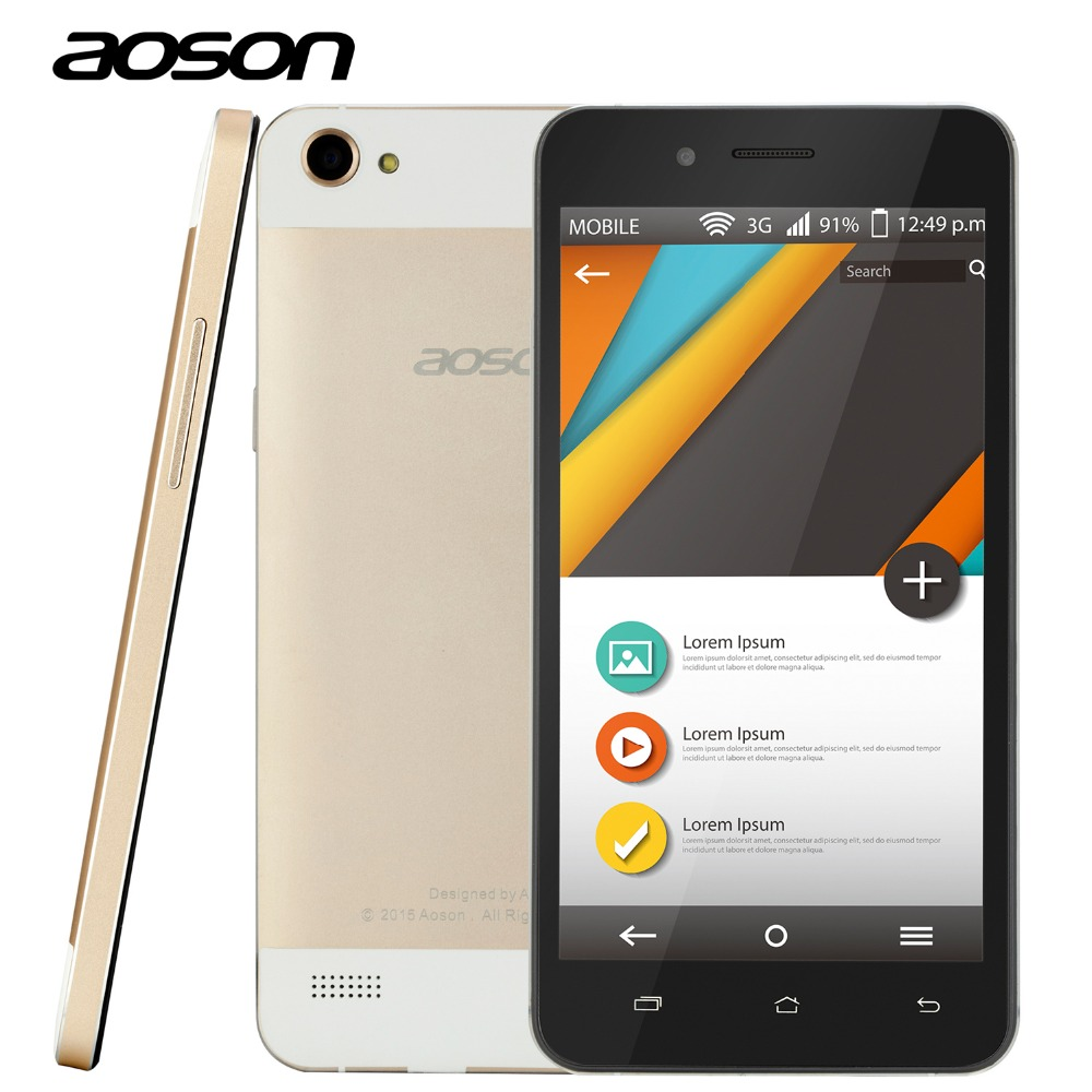 Original Aoson G507 Quad Core Smart font b Phone b font With MTK6582 3G Unlocked Android