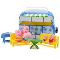 Genuine Peppa Pig deluxe Holiday campervan Scene simulation camping car Boy girl birthday present Enlightening toy kids toy gift