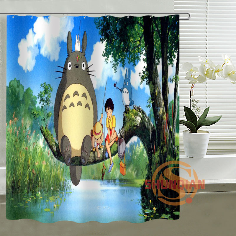 Custom Shower Curtain my neighbor totoro Bath curtain Waterproof polyester Fabric Shower Curtain For Bathroom