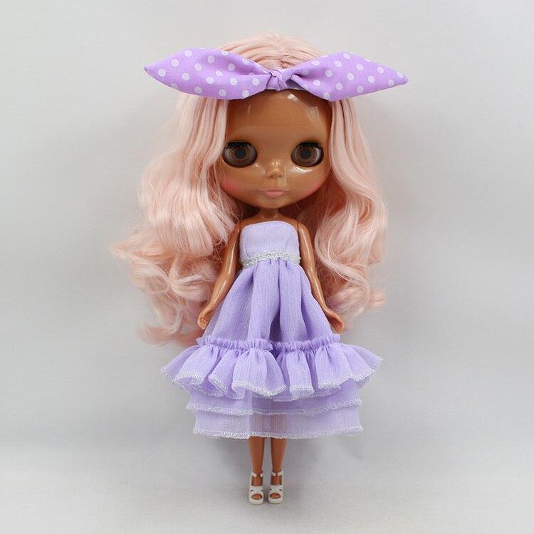 factory blyth doll 230BL1059 No bangs Champagne Pink hair dark skin normal body 1/6 9greenbox pink champagne ornamental grass 50 seeds