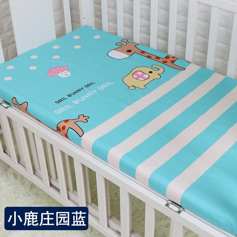100*140cm Baby Bedding Sheet 100% Cotton Newborn Bedsheets Cartoon Baby Environmental Reactive Print Baby Bed Crib Sheet
