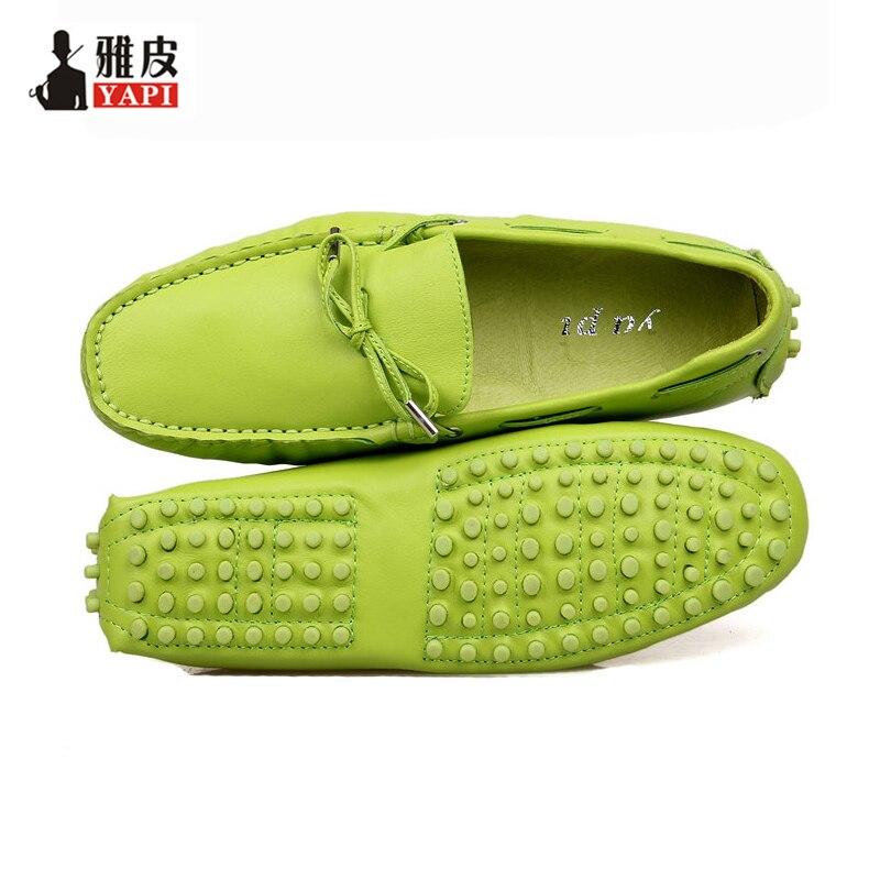 Ayakk.'ten Erkek Rahat Ayakkabılar'de AB 38 44 Moda hakiki Rahat Deri Kravat Rahat SLIP ON mokasen Ayakkabı penny loafer'lar erkekler Moccasins'da  Grup 1